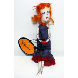 Clarice the Misfit Doll...ate too many sugarplums and developed sugarplum fever!!