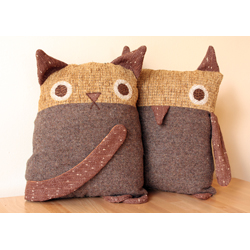 fat little owl pillow