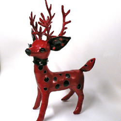 Red Pleather Reindeer