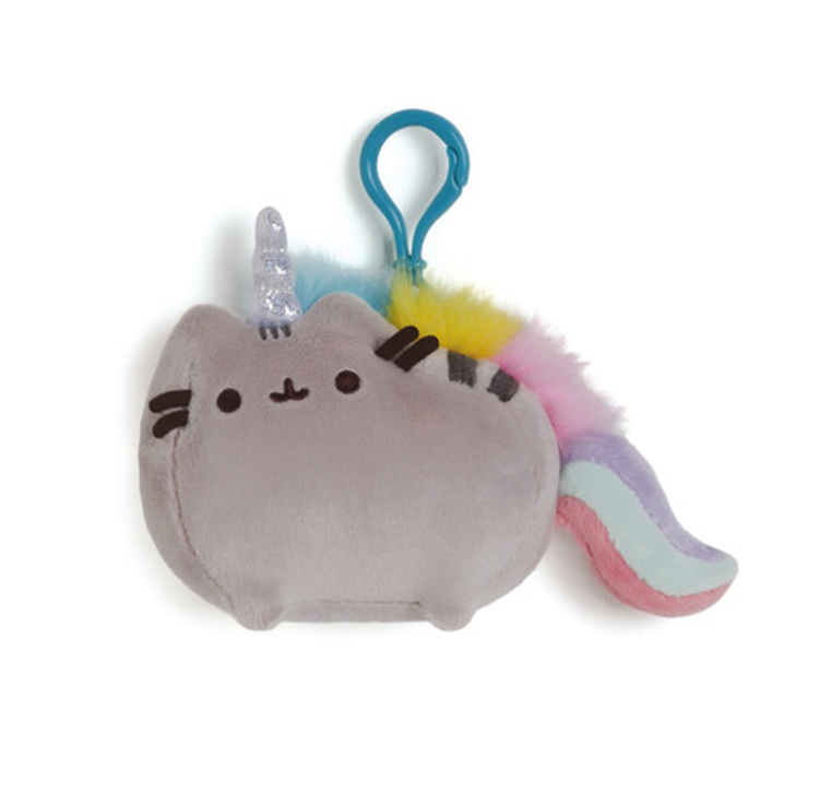 This magical Pusheenicorn with her flowing rainbow mane will make an excellent companion for your backpack!