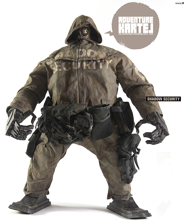 The Ankou-EX are a 14.5 inch, 1/6th scale fully articulated collectible  figures from the world of Ashley Wood's Adventure Kartel.  Exclusive user manual included in each box!