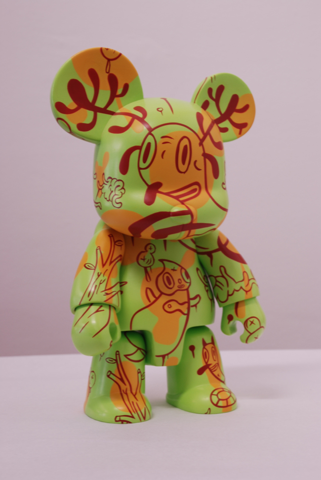 Qee Bear Buckingham Forest, 8 inch figure by Gary Baseman.