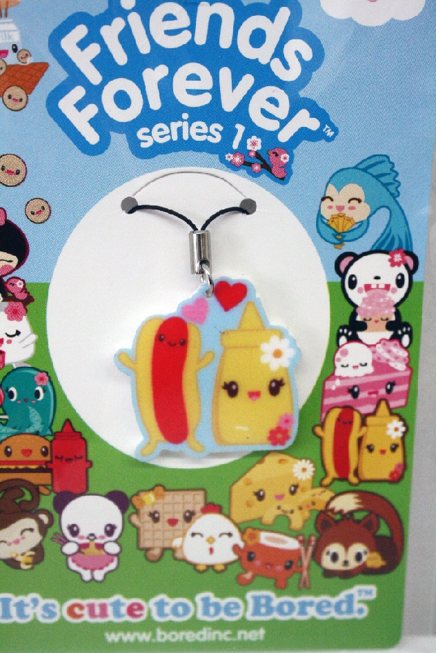 This listing is for one Hotdog and Mustard cell phone charm.