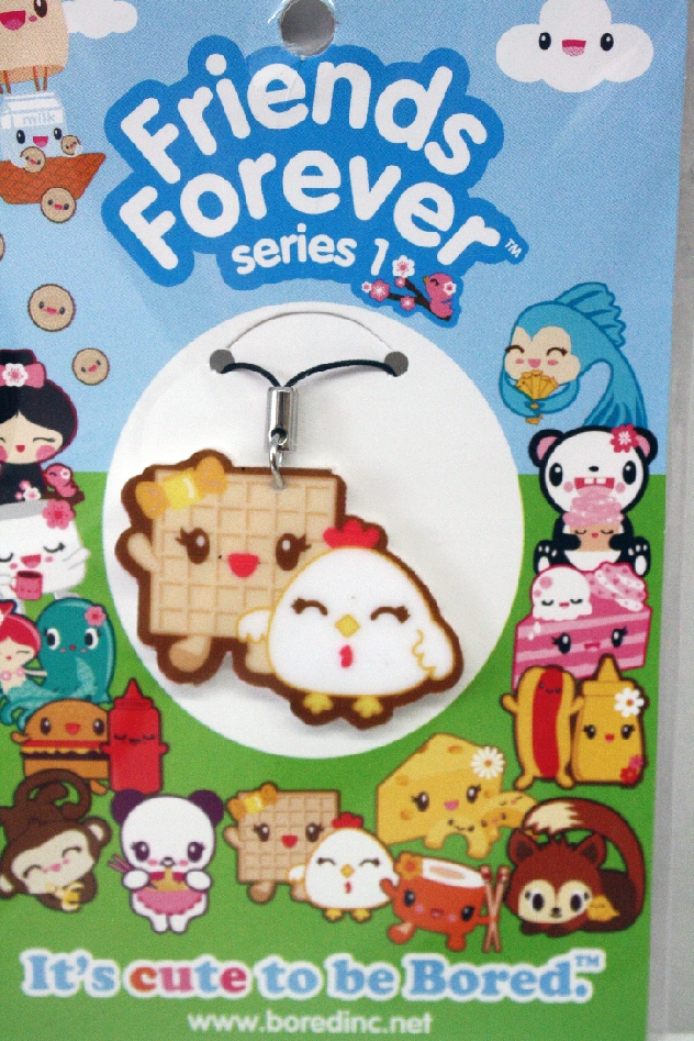 This listing is for one Waffle and Chicken cell phone charm.
