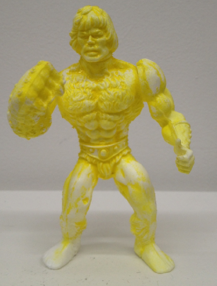 White resin base 2 point articulated figure rub paint.