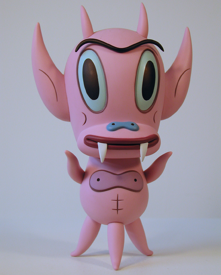 Pink edition Hot Cha Cha Cha figure by Gary Baseman and Critterbox. The packaging is almost a nice as the figure.