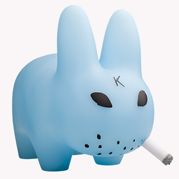 See the light where the sun don't shine! Introducing 10-inches of absurdly luminous blue vinyl, complete with classic cigarette and translucent butthole. So radiant and soft, Labbit looks angelic - even when smorkin'.