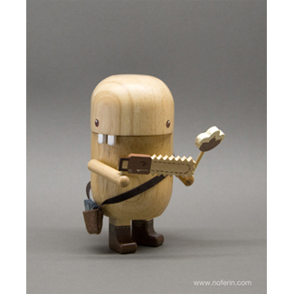 Pecan Pals Natural Wood-Pandacake, handcrafted wood, articulated joints, edition of 300, 5 characters to chose from
