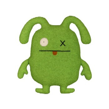 Uglydolls-Ox Green classic size by David Horvath and Sun-Min Kim