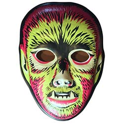 Electric Wolfman Plastic Mask