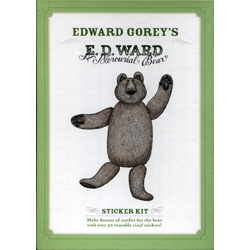 Edward Gorey E.D. Ward: A Mercurial Bear Sticker Kit