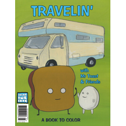 Color Ink Book Travelin' with Mr Toast & Friends