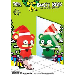 Bossy Bear- Red Santa Edition