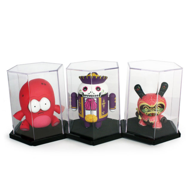 Mini Figure Display Cases - Hexagonal