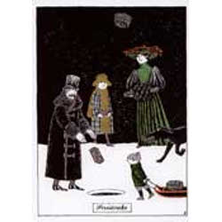 Edward Gorey Holiday Cards- Fruitcake