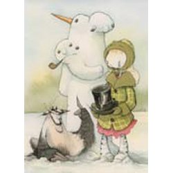 Gris Grimly Greeting Cards - Snowman