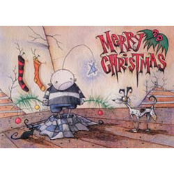 Gris Grimly Greeting Cards - Merry Christmas