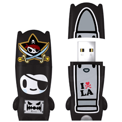 Mimobot Tokidoki Pirate Nero Flash Drive 2GB