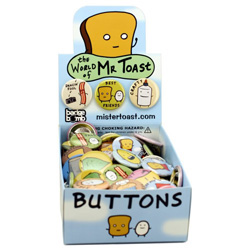 World of Mr. Toast Buttons
