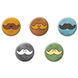 Moustachio Button