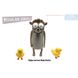 Rigby with Baby Ducks