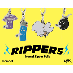 Rippers -Enamel Zipper Pulls