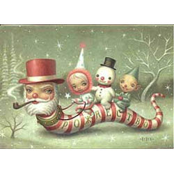 Mark Ryden Holiday Cards- Santa Snake