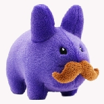 Stache Labbit Plush - Purple Edition