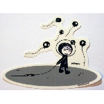 Tara McPherson Sticker- Alien Balloons