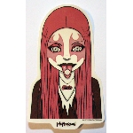 Tara McPherson Sticker- Pink Metal