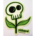 Tara McPherson Sticker- Skull Flower