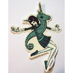 Tara McPherson Sticker- Unicorn Girl