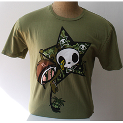 Tokidoki Men's Captain Coco Olive Green T-shirt - Large