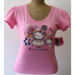 Tokidoki Women's Donutella Kitty Pink T-shirt - Large