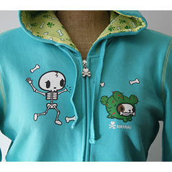 Tokidoki Women's The Bone Yard Hoody- Extra Large