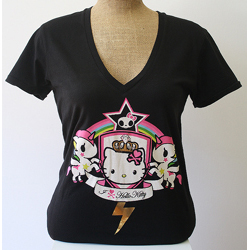 Tokidoki Women's Unicorno Kitty Black T-shirt- Extra Large