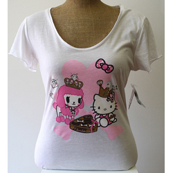 Tokidoki Women's Chocolate Kitty White T-shirt - Extra Large