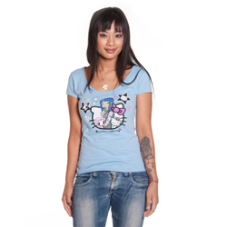 Tokidoki Women's Hello Kitty Girl Talk T-shirt Small