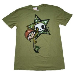Tokidoki Men's Captain Coco Olive Green T-shirt - Medium