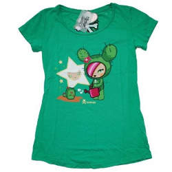 Tokidoki Women's  Let It Grow Kelly Green T-shirt - Small