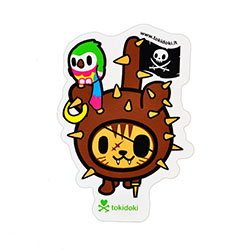 Tokidoki Sticker - Pirate Kitty