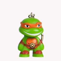 TMNT Teenage Mutant Ninja Turtle keychain - Michelangelo