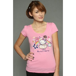 Tokidoki Women's Donutella Kitty Pink T-shirt - Medium