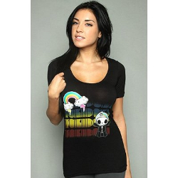 Tokidoki Women's Rainbow Adios Black T-shirt - Small
