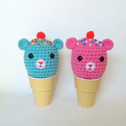 Ice Cream Bears Plush Dolls - Blue