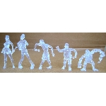 Z.O.M.B.I.E. 5 Pk. Assorted Figures (Clear Glitter)